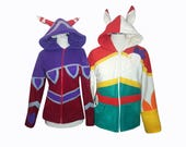 League of Legends champion Xayah and Rakan inspired cosplay costume hoodie (pick one), lol gamer, game cosplay, halloween costume, bird