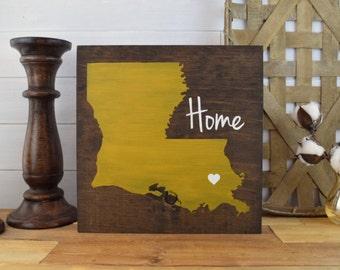 Pick Colors, Louisiana Wood Sign, Louisiana Home Sign, Louisiana sign, wood signs, Louisiana art, New Orleans art, Louisiana decor