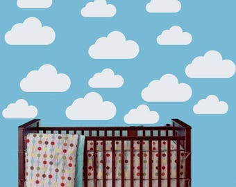 Cloud Nursery Decal Clouds Wall Decal Cloud Decals Cloud Wall Sticker White Cloud  Decals Cloud Stickers Part 33