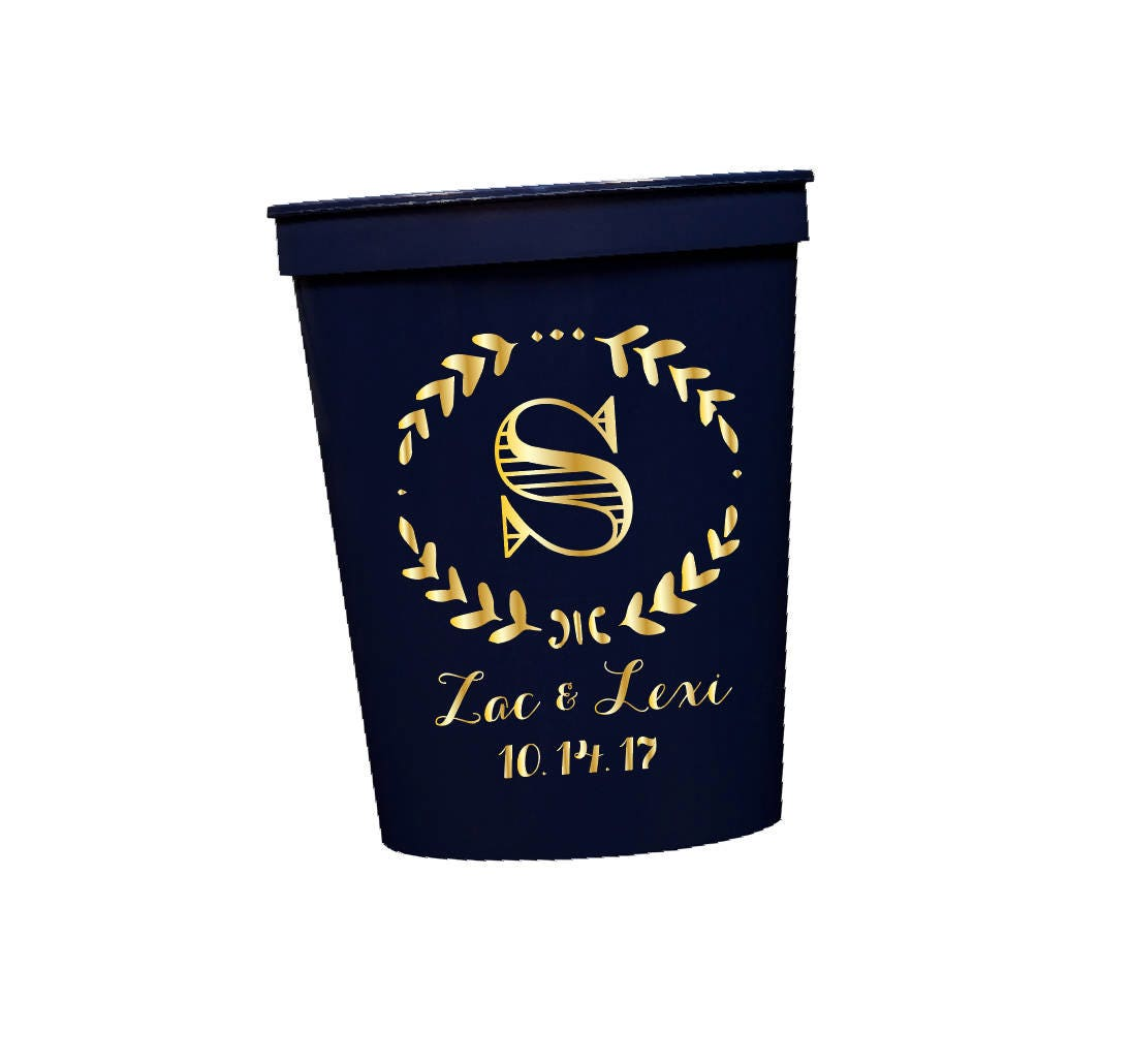 Wedding Cups Personalized Cups Wedding Reception Favor Party Cups Personalized Cups Custom