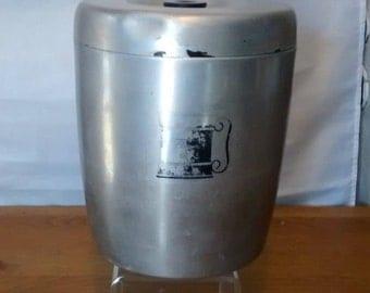 West Bend Aluminum Flour Canister, Mid Century West Bend Canister, Vintage Canister, Mid Century Canister.