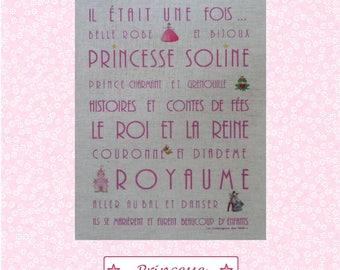"Custom theme ""Princess"" linen canvas"