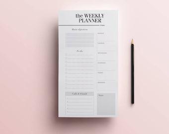 Personal Weekly Planner Printable Inserts - Week On One Page Personal Size - Printable Personal Weekly by Crossbow Printables