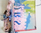 Art Journal, December Daily, Cut Paste Book, Gratitude Journal, Mixed Paper, Mini Travelers Notebook, Scrap Book, Collage Art, Abstract