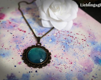 Bronze Necklace with Turquoise pendant