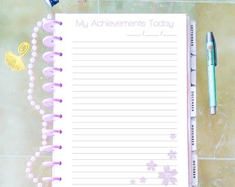 My Achivements Letter Size Inserts Big Happy Planner Size Inserts Printable Tasks Printable Refills Digital Mambi Planner Instant Download
