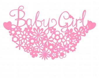 Baby girl cake topper svg/png/dxf cricut/silhouette digital cutting file/baby girl svg/baby shower/baby svg/birth congratulations svg/birth