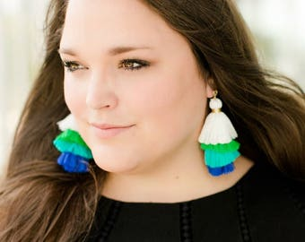 Stacked Tassel Earrings by Genie Mack