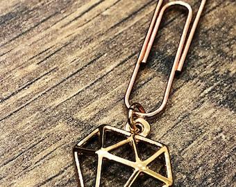 Paperclip Diamond for your Midori/Fauxdori/Filofax/Planner