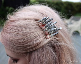 Enchanting Crystal Hair Slide Clip Mermaid Witch Wicca Pagan Wedding Bridal Festival Crown Hair Accessories