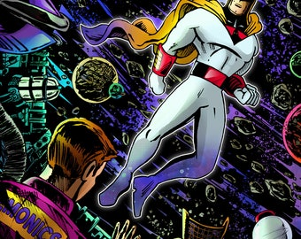 Space Ghost meets MST3K faux comic poster