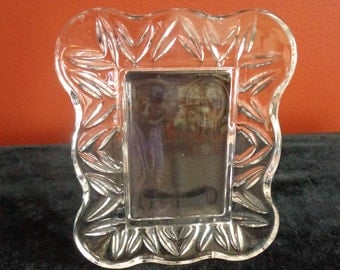 WATERFORD Crystal Photo Frame Scalloped Crystal Picture Frame 5 x 4 1/2 Inches