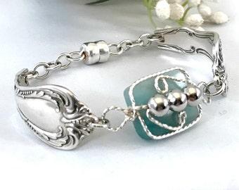 Arc Jewelry Amazonite Bracelet , Zodiac Aries Bracelet , Spoon Bracelet with Stone , Best Selling Mother's Day Gift For Mom