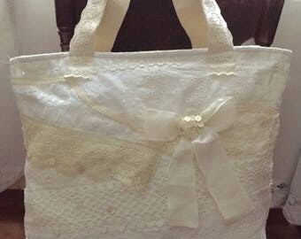 Shabby white cotton and lace sea summer Fellowship