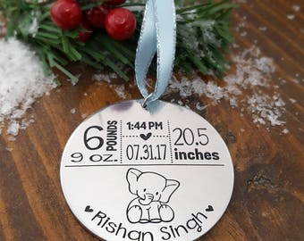 New Baby Ornament | First Christmas Ornament | Birth Stats | Baby Boy Ornament | Baby Girl Ornament | New Mommy Gift | Baby Keepsake Gifts