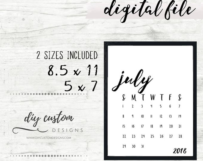 Baby Announcement Calendar, Birth Announcement Ideas, Digital Download, Baby Due Date Calendar Printable, Social Media, Gender Reveal