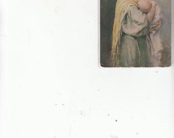 C 1910s Pretty Women Breastfeeding Her Child Authentic Antique Postcard