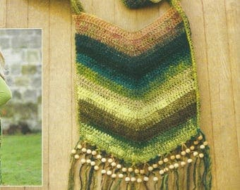 Beaded Crochet Boho Bag PDF Crochet Pattern