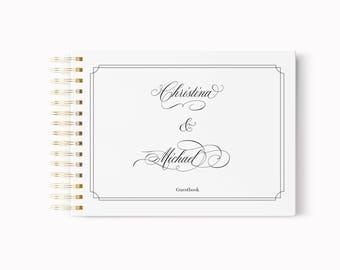 Wedding Guest Book, Wedding Guestbook, Bridal illustration, Wedding Book, Wedding gift, Bridal gift, Guest Book, Custom Guestbook