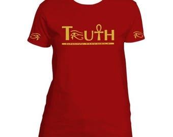 African Clothing // Ankh Shirt for Women // Egyptian Clothing // Eye of Horus - Heru - Ra Shirt // Ladies Ankh T-shirt // Knowthyself Shirt