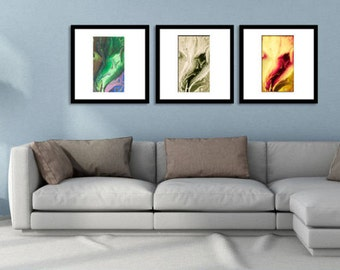 Orignal  leaf Painting, Abstract Painting Prints, Modern Wall Art, original canvas art print, fine art print, abstract acrylic  wall decor,
