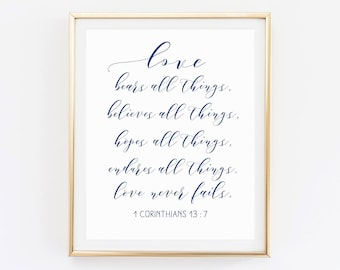 1 Corinthians 13 Sign Wedding Poems Bible Verse Family Quote Signs