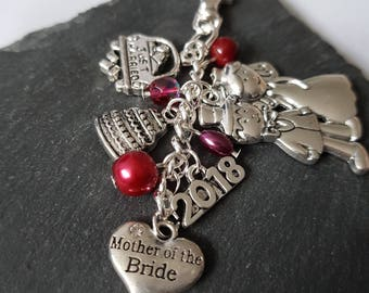 Mother of the bride gift - parent wedding gift - gift for mother of the bride - bridal party gift - Mother of the bride bag charm