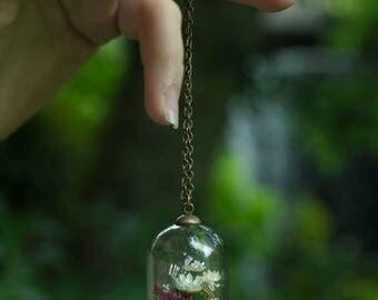 The times * bronze blossoms vial terrarium necklace wild
