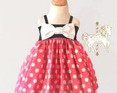 Pink Minnie Mouse Dress | Birthday Dress | Disney Dress | Girls Clothing | Disney Vacation | Disney World | Minnie Mouse Party | Dress