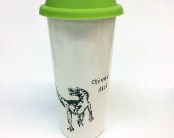 Clever Girl Jurassic Park Quote Travel Ceramic Mug