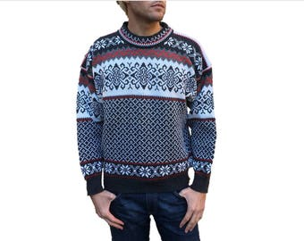Made in Norway - Deadstock Nordic Sweater by Nordstrikk - New w/ Original Tags! - Vintage 100% Wool Fair Isle Sweater - Men's Size Large (L)