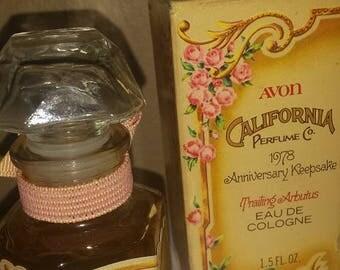 Trailing Arbutus by Avon  Anniversary Keepsake  1.5oz