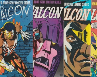 The Falcon #1-4 Complete Set 1983 1st Solo Series Limited Marvel Comics Captain America Electro Sam Wilson