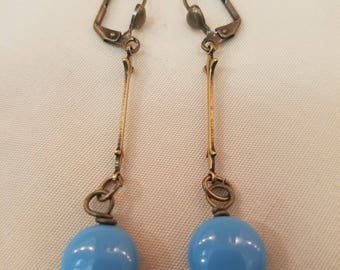 Light Blue Coin Pearls  EE-147