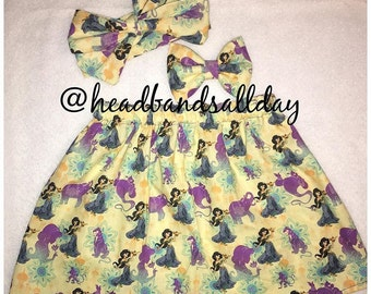 Princess jasmine skirt and bow set