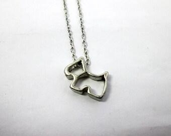 Puppy Dog Necklace Dog Lover Gift Scottie Dog Slider Necklace Scottish Terrier Schnauzer Westie Gift Dog Loss Gift Pet Dog Memorial Necklace