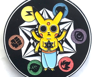 Element Pikachu Hat Lapel Pin Pokemon EDM Festival Rave Snapback LSD