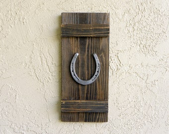 Rustic Horseshoe, Farmhouse Decor, Rustic Decor, Housewarming Gift, Good Luck Gifts, Rustic Wedding Gift, Rustic Home Wall Decor, Wall Art