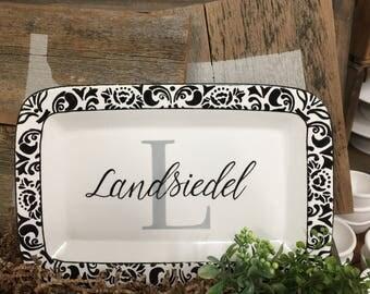 Personalized Monogramed Platter