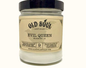 Evil Queen Soy Candle, Apple Candle, Guava Candle, Fall Candle, Vegan Scented Candle, Winter Scent, Halloween Candle, Perfect gothic gift!