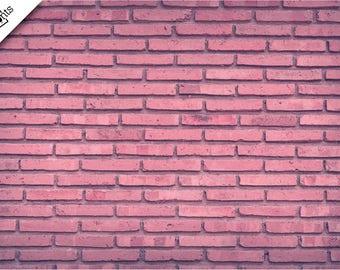 PINK BRICK Vinyl Backdrop - Photography Backdrop - Product Staging Backdrop - Birthday Backdrop - Newborn Backdrop - Pink Brick Wall