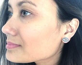 Evil Eye Earrings, Amira Evil EyeTurquoise Earrings