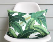 "16"" x 20"" Banana Leaf Pillow Cover - Tommy Bahama Fabric - COVER ONLY"