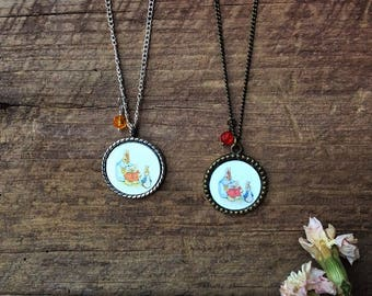 Easter bunny jewelry, Beatrix Potter jewelry, Peter Rabbit necklace, Easter gift for kids, children, girls, Easter bunny gift, bunny rabbit