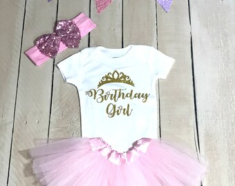 Girl First Birthday Outfit, Birthday girl outfit, 1st Birthday Girl Shirt, 1st Birthday Tutu, 1st Birthday Outfit, Princess Birthday
