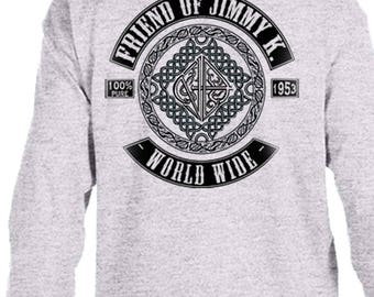 NA - FRIEND Of JIMMY K  - Long Sleeve T-Shirt - S-3X -Black or Gray - 100% cotton.  Narcotics Anonymous