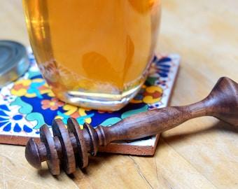 Walnut wood honey spoon black
