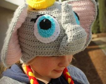 Kids Dumbo hat// Disney Dumbo hat// Dumbo Elephant baby hat// Kids Dumbo hat// Crochet baby Dumbo hat//