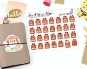 Christmas Countdown Planner Stickers - Hedgehog Planner Stickers - Countdown Stickers - Santa Claus Stickers - Character Stickers - 998