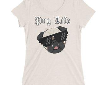 Pug Shirts For Woman | Pug Life Shirt | Womens Pug Shirt | Graphic Tee